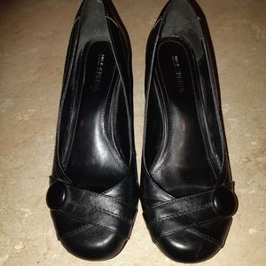 Call It Spring Black Heels Size 7